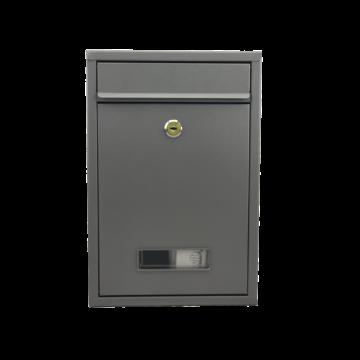 Premium Postbox postaláda V1 -  porfestett- szürke