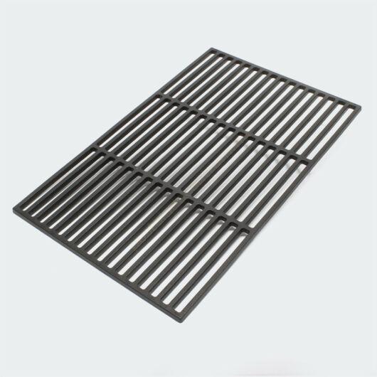 Öntöttvasból készült grillezőrács - négyzet alakú - 54 x 34 cm vastag rostélyrács