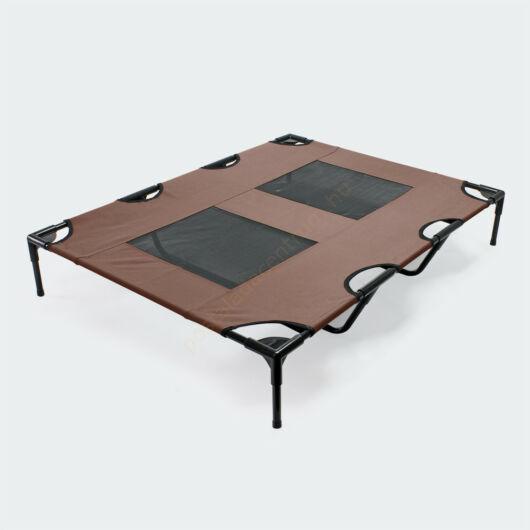 Kültéri barna háziállat napozóágy, pihenőágy - 122x93x20cm - 30kg-ig