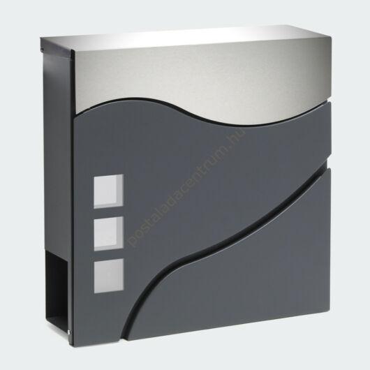Design postaláda újságtartóval V28 antracit - INOX