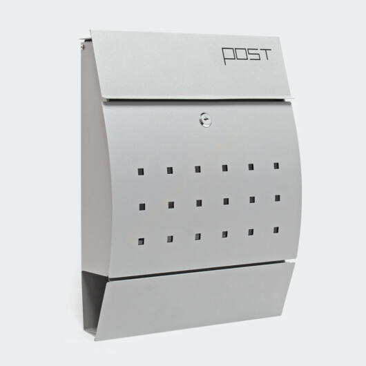 V35 fali postaláda, modern design - ezüst