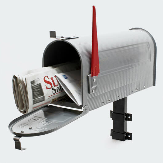 US Mailbox, ezüstszürke színben, amerikai design - falikarral