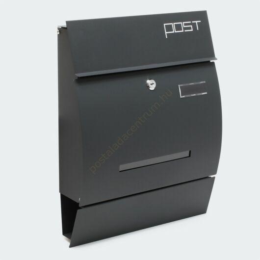Premium modern fali postaláda  V4 - antracit szürke porfestett