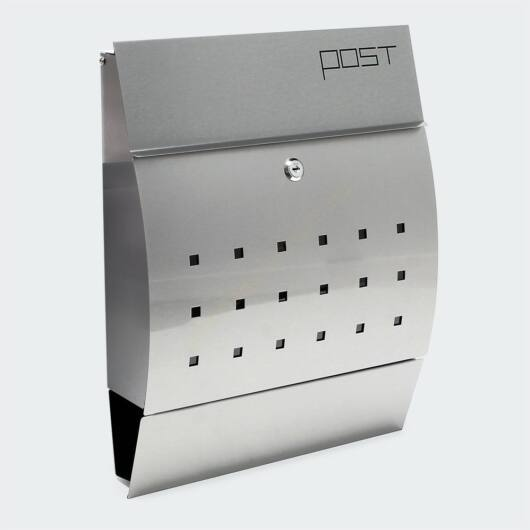 Premium modern fali postaláda  V7 - INOX