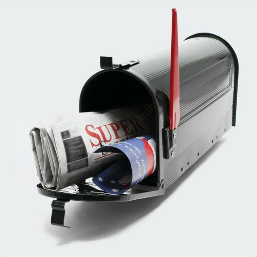 US Mailbox Design postaláda - fekete