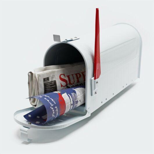 US Mailbox Design postaláda - fehér