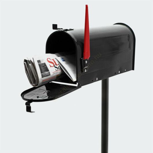 US Mailbox, amerikai design, fekete állvánnyal
