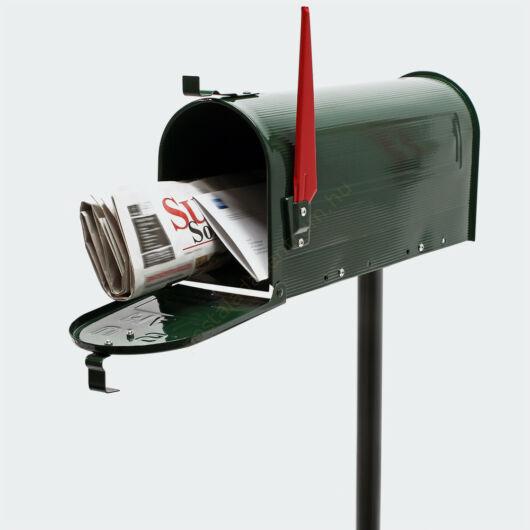 US Mailbox, méregzöld színben, amerikai design, méregzöld állvánnyal